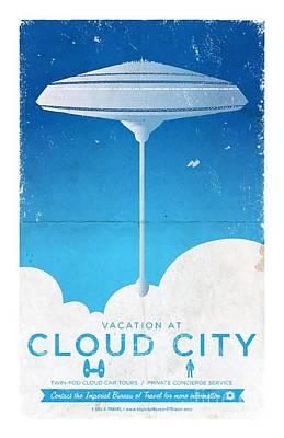 The Empire Strikes Back Digital Art - Cloud City by Baltzgar