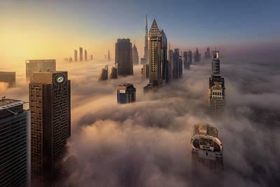 Labyrinth Photograph - Cloud City by Javier De La