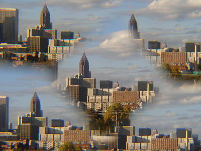 Photograph - Cloud City Metropolis by Ray Lewis