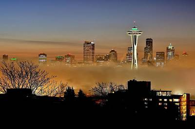 Photograph - Cloud City Seattle by Benjamin Yeager