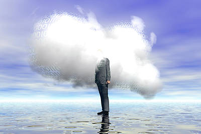 Cloud Computing Art Print by Carol & Mike Werner