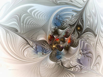 Golden Digital Art - Cloud Cuckoo Land-fractal Art by Karin Kuhlmann