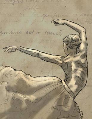 Fine Art Nude Digital Art - Cloud Dancing by H James Hoff