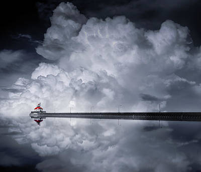 Long Exposure Photograph - Cloud Desending by Like He