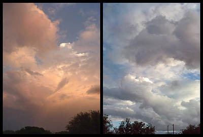 Storm Photograph - Cloud Diptych by James W Johnson