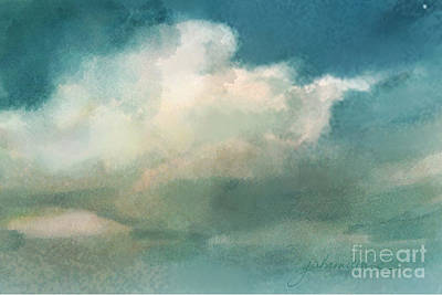 Cloud Diptych Right Art Print by Joan A Hamilton