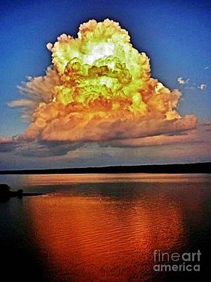 Cloud Explosion Over Jordan Original by Scotty Alston