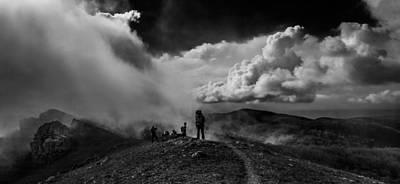 Photograph - Cloud Factory Bw by Dmytro Korol