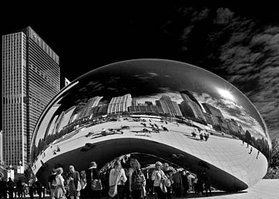 Whimsy Photograph - Cloud Gate Chicago - The Bean by Christine Till