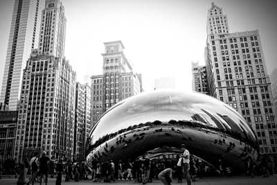 Photograph - Cloud Gate Dark And Gritty by Frank Winters