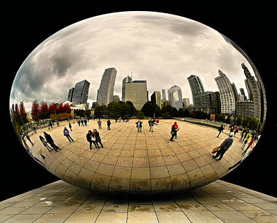 Photograph - Cloud Gate Fantasy by Joe Bonita