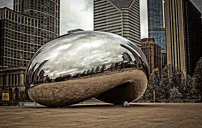 Photograph - Cloud Gate May 2014 by Frank Winters