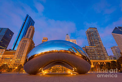 Reflective Photograph - Cloud Gate Number 1 by Inge Johnsson
