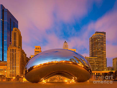 Millennium Park Photograph - Cloud Gate Number 4 by Inge Johnsson
