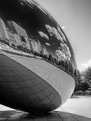 Photograph - Cloud Gate Teardrop Black And White by Christopher Arndt