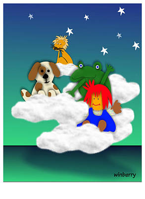 Cloud Kids Art Print by Bob Winberry