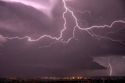 Photograph - Cloud Lightning by Leland D Howard