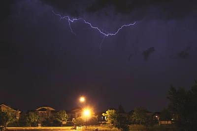 Photograph - Cloud Lightning by Trent Mallett