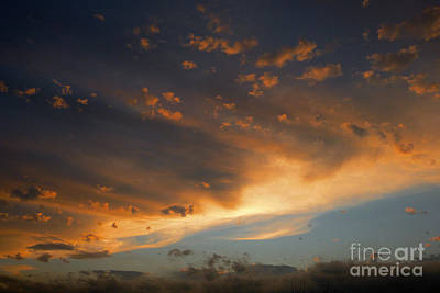 Photograph - Cloud Line At Sunset by Mark Dodd