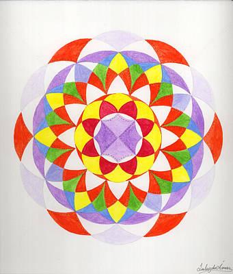 Cloud Mandala Art Print by Silvia Justo Fernandez