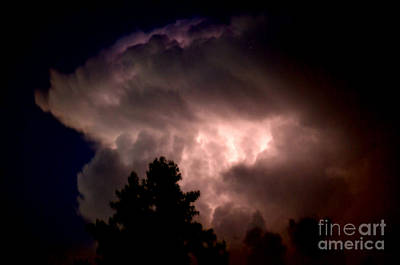Photograph - Cloud Of Lighting  Nimbus  by Peggy Franz