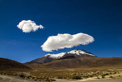 Photograph - Cloud Over Bolivian Mountain by For Ninety One Days