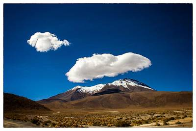 Photograph - Cloud Over Bolivian Mountain Framed by For Ninety One Days