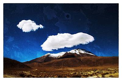 Photograph - Cloud Over Bolivian Mountain Framed Vintage by For Ninety One Days