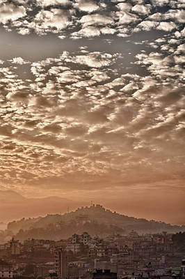 Photograph - Cloud Over Kathmandu by U Schade