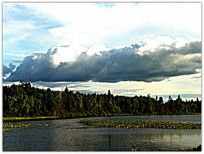 Cloud Over Lake Tomiko Art Print by Dianne  Lacourciere