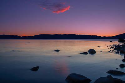 Cloud Reflection Before Sunrise Art Print