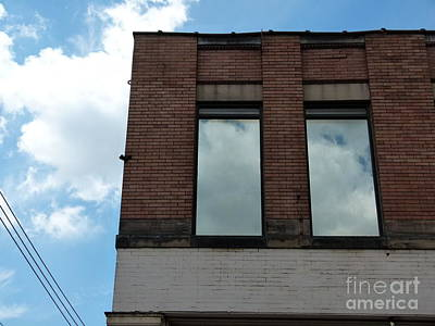 Photograph - Cloud Reflection On Window by Jane Ford