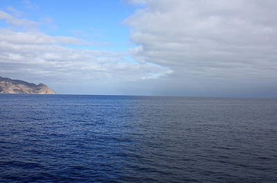 Photograph - Cloud Shadow On The Sea by Daniel Schubarth