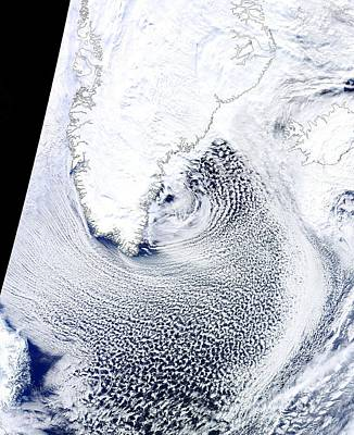 Cloud Streets, Greenland, Satellite Art Print by Science Photo Library