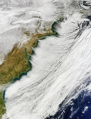 Cloud Streets Over Us East Coast Art Print by Nasa