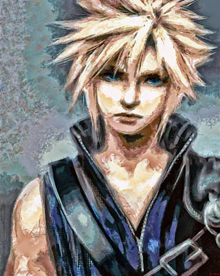 Painting - Cloud Strife by Joe Misrasi