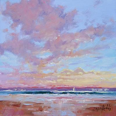Big Skies Painting - Cloud Study 1 by Laura Lee Zanghetti
