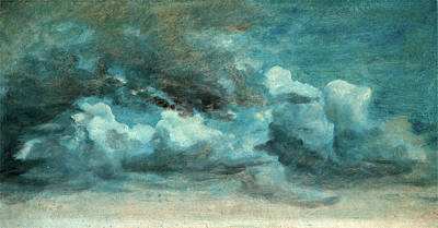 Visual Drawing - Cloud Study Cumulus Clouds, Lionel Constable by Litz Collection