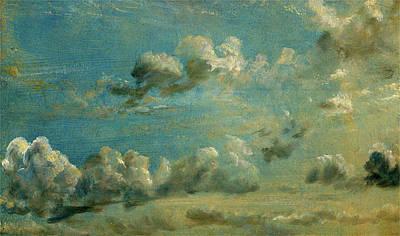 Cumulus Drawing - Cloud Study Study Of Cumulus Clouds Study Of Cumulus Clouds by Litz Collection