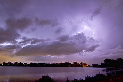 Cloud To Cloud Lake Lightning Strike Art Print by James BO  Insogna