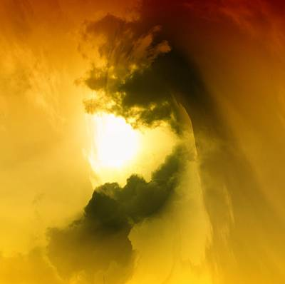 Abstract Digital Photograph - Cloud Whirl by Jeff Swan