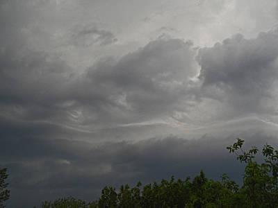 Photograph - Clouded Waves by Cyryn Fyrcyd