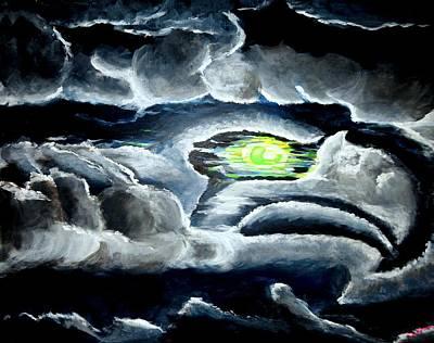Seattle Seahawks Painting - Cloudhawk by Khanda Lewis