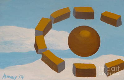 Painting - Cloudhenge by Rod Ismay