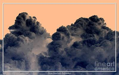 Negative Effect Digital Art - Clouds 2 Inverted Effect by Rose Santuci-Sofranko