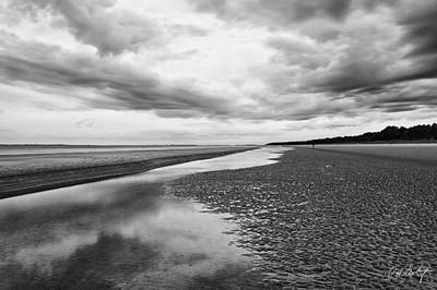 Clouds At Low Tide Art Print by Phill Doherty
