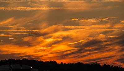 Photograph - Clouds Ablaze by Philip Rispin