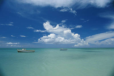 Clouds And Boats, Aruba Art Print by Skip Brown