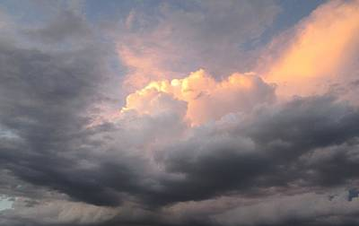 Clouds And God Art Print by Cathy Long