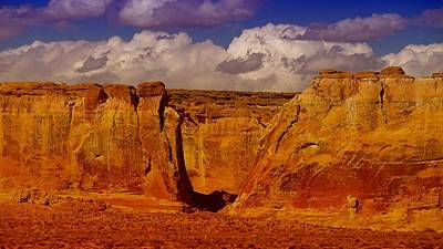 Capital Reef Photograph - Clouds And Red Rock by Jeff Swan